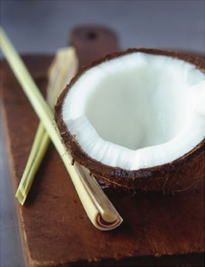 Coconut with lemongrass